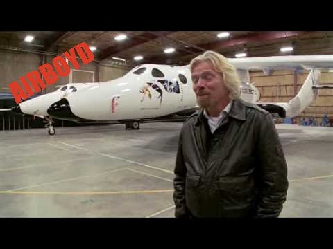 Virgin Galactic SpaceShipTwo Introduced By Sir Richard Branson