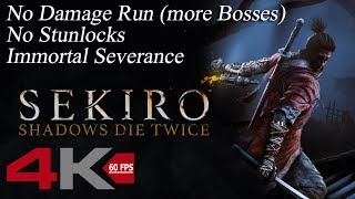 Sekiro # No Damage Run - MORE BOSSES - No Stunlocks (successfully no damage taken) 4K 60FPS