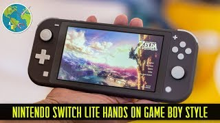 Nintendo Switch Lite hands on Game Boy Style