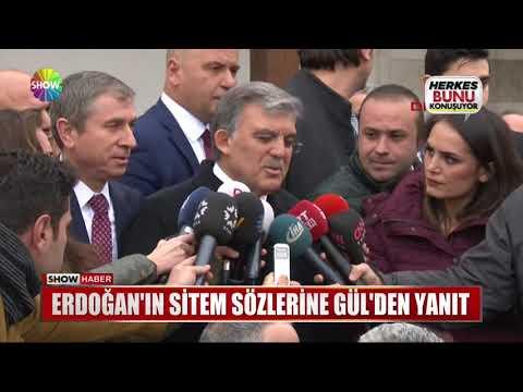 Erdoğan'ın sitem sözlerine Gül'den yanıt