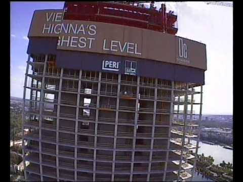 Legendary 3D FPV Helicopter Flight! DC Tower 1. Vienna Austria Skyscraper Through Crane Wien Highest