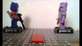 Kre-O Transformers Optimus vs Galvatron (Camera test)
