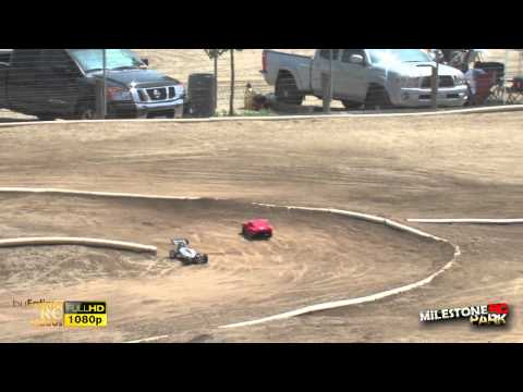 Electric Short Course Vs. Electric 1/8 Buggies off road track Racing at Milestone RC Park