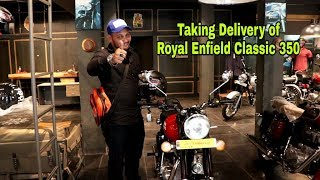 Taking Delivery of Royal Enfield Classic 350 Bikes@BPC