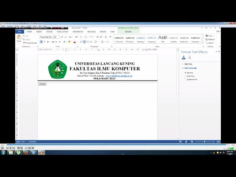 Cara Membuat Kop Surat di Ms Word (How to Create a Letterhead in MS Word)