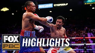 Pacquiao beats Thurman for WBA Super World Welterweight Championship belt | HIGHLIGHTS | PBC ON FOX
