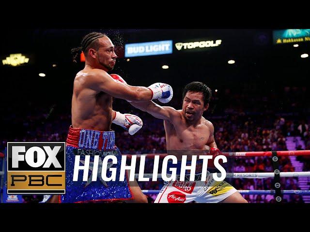 Pacquiao beats Thurman for WBA Super World Welterweight Championship belt | HIGHLIGHTS | PBC ON FOX thumbnail