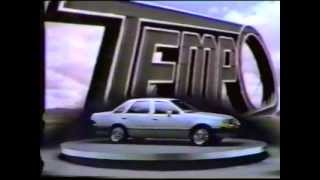 1984 Ford Tempo car commercial.