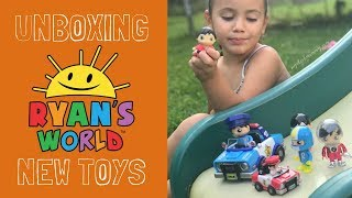 NEW RYAN'S WORLD TOYS Unboxing - Rare Slime, Squishes, Blind Bags | Bonkers Toys