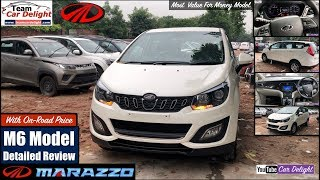 Marazzo M6 Model Detailed Review with On Road Price,Features,Interior | Marazzo White Colour