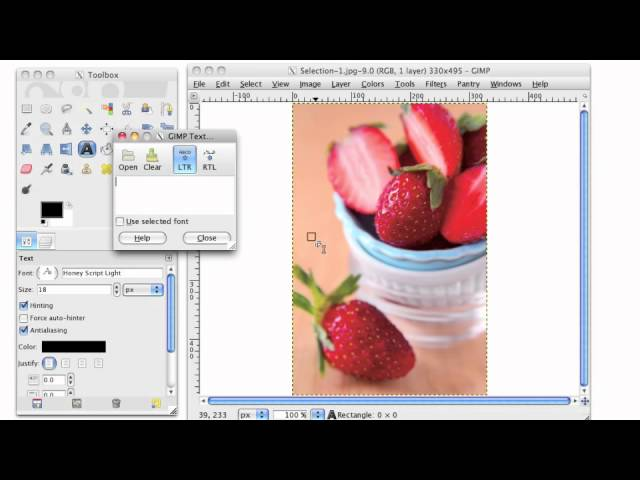 GIMP Tutorial- How to Watermark Your Photos in GIMP