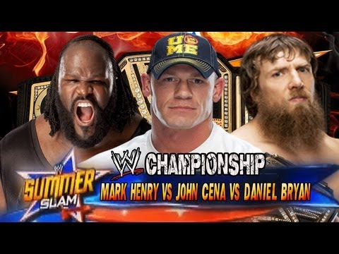 WWE Summerslam 2013 John Cena vs Daniel Bryan vs Mark Henry (WWE Championship) Full Match HD!