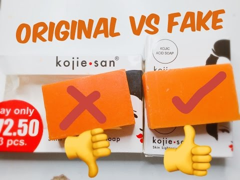 Original kojie San Soap VS Fake kojie San Soap