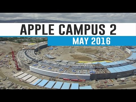 APPLE CAMPUS 2: May 2016 Construction Update 4K