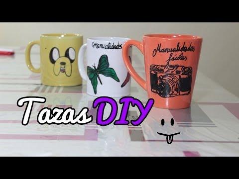 Cómo hacer tazas personalizadas, decorar tazas - Manualidades Fáciles