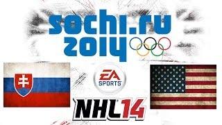 Český Let´s play | NHL 14 | ZOH 2014 | SVK - USA | Xbox 360
