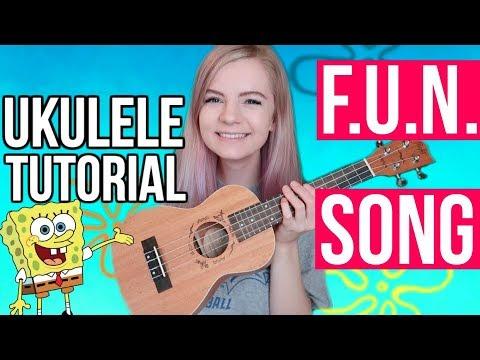 Spongebob FUN song! - EASY BEGINNER UKULELE TUTORIAL