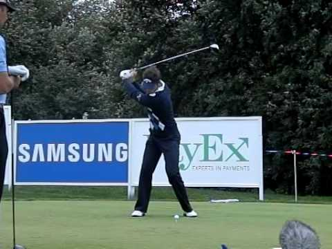 Nick Dougherty - Golf Swing with Driver, Slow Motion (Face On)