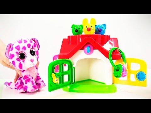 Видео для детей: Тигренок и зверята учат цвета