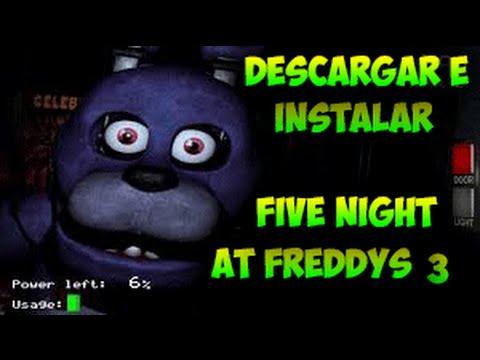 Descargar E Instalar Five Nights At Freddy's 3 Portable Para Pc.