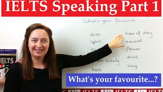 IELTS speaking part 1: What