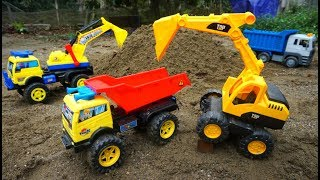 Excavator Truck Toys Working in Construction | Funny Songs For Kids