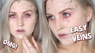 Easy Beginners Vein Tutorial ♡ Zombie Veins Halloween Makeup Tutorial