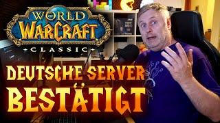 WoW Classic - Deutsche Server zum Release verfügbar | World of Warcraft Update