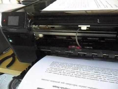HP PhotoSmart C4680 com cartucho 60 preto adaptado e reservatório de tinta externo