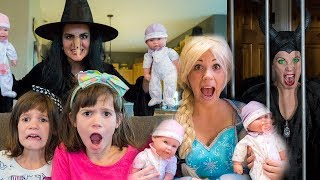 Elsa, Maleficent, Wicked Witch, Kate & Lilly: Baby Doll Collection!!