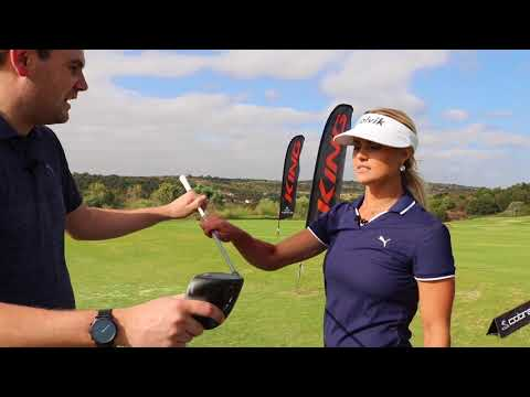Carly Booth first reaction and COBRA F8 Driver fitting