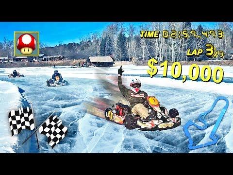 INSANE ICE KARTING FOR $10,000 W/ TEAM 10