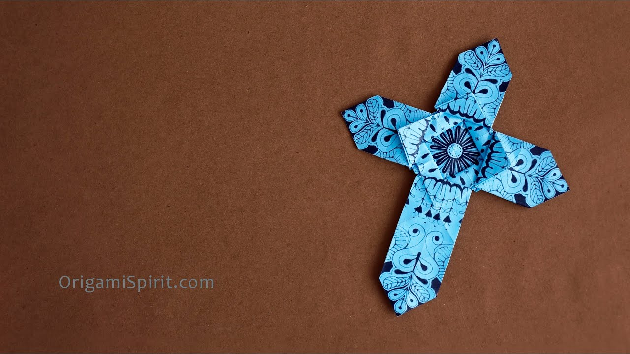 Origami Cross With Heart images