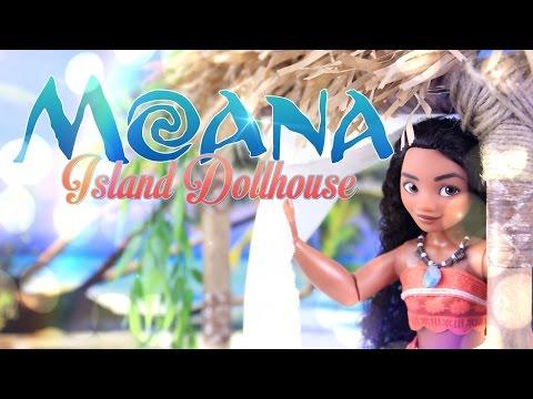 DIY - How to Make: Disney Moana Dollhouse - Handmade - Doll - Craft - 4K