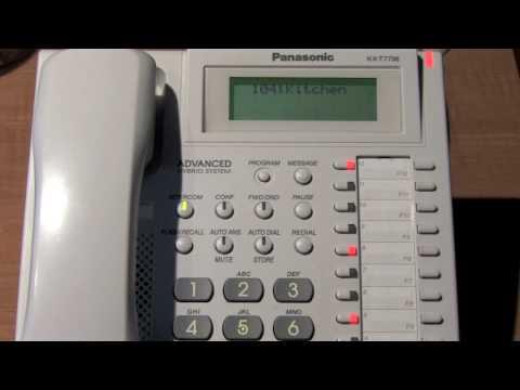 Requested Panasonic Pbx Phone System Demo