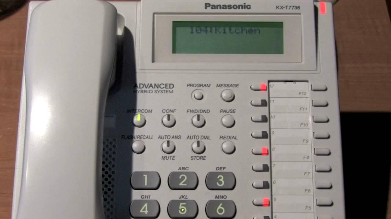 Requested Panasonic Pbx Phone System Demo Youtube