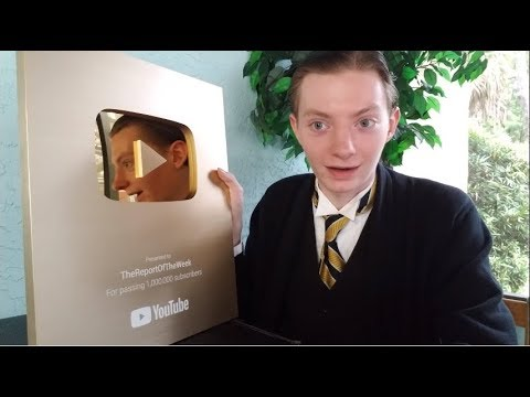 1 Million Subscribers Gold Play Button Award Unboxing thumbnail