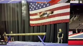Simone Biles, beam, (first!) double double dismount