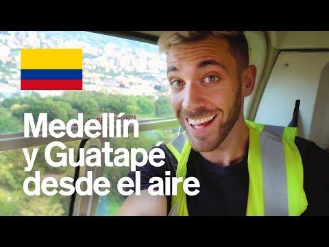 SOBREVOLANDO MEDELLÍN EN HELICÓPTERO ? Y GUATAPÉ | COLOMBIA