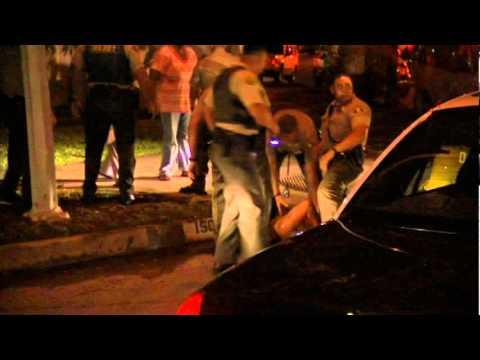 Compton Sheriff Knocks out criminal on PCP