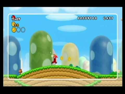 NEW SUPER MARIO BROS WII-ALM1GHTY & WIFEY-WALKTHROUGH-WORLD 1-HINT MOVIES
