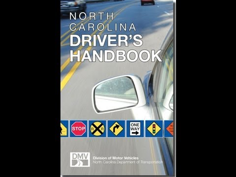 How to pass your North Carolina Drivers Test DMV cliff notes 2012 Part 3 of 3 written test