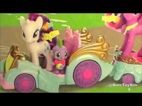 My Little Pony Princess Celebration Cars Review! Twilight Sparkle, Rarity & Spike! by Bin's Toy Bin