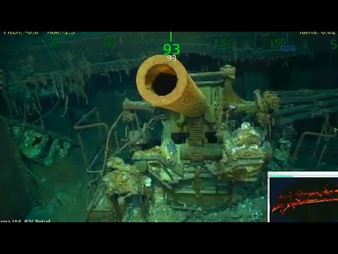 Underwater footage of sunken aircraft carrier USS Lexington  –  video