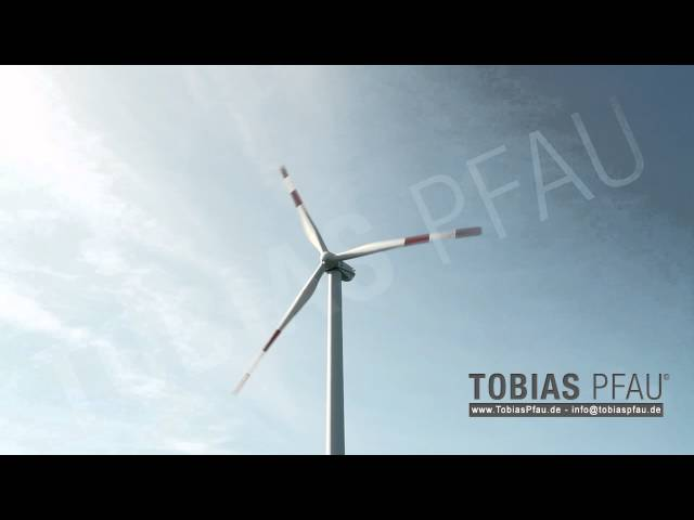 Windturbine - Wind-powered generator against the blue sky - Hull HD