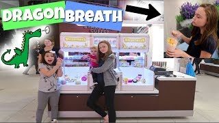 SQUISHIES + SLIME STANDS AT THE MALL! TRYING DRAGON BREATH FOR THE FIRST TIME!