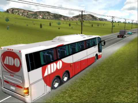 18 wheels of steel haulin mod bus mexico edicion profesional ADO CARRETERA TUXTLA - JUCHITAN