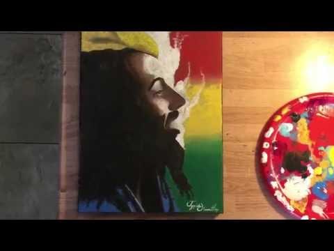 Bob Marley Acrylic painting