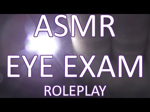 ASMR Eye Exam Role Play. Candle&Light Play. 3Dio Free Space Binaural ears To