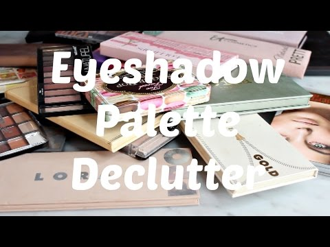 Eyeshadow Palette Declutter: over 40% GONE! Drugstore and High End